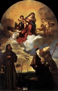 Tiziano Vecellio, Madonna in gloria coi santi Francesco e Biagio (Pala Gozzi), Pinacoteca civica Francesco Podesti, Ancona