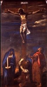 Tiziano Vecellio, Cristo in croce con la Vergine, san Giovanni e san Domenico, Chiesa di San Domenico, Ancona